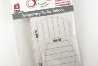 Tattoo Gift Certificate Template Unique Temporary Tattoo to Do Tattoos 5 Pack Funny Gift Etsy