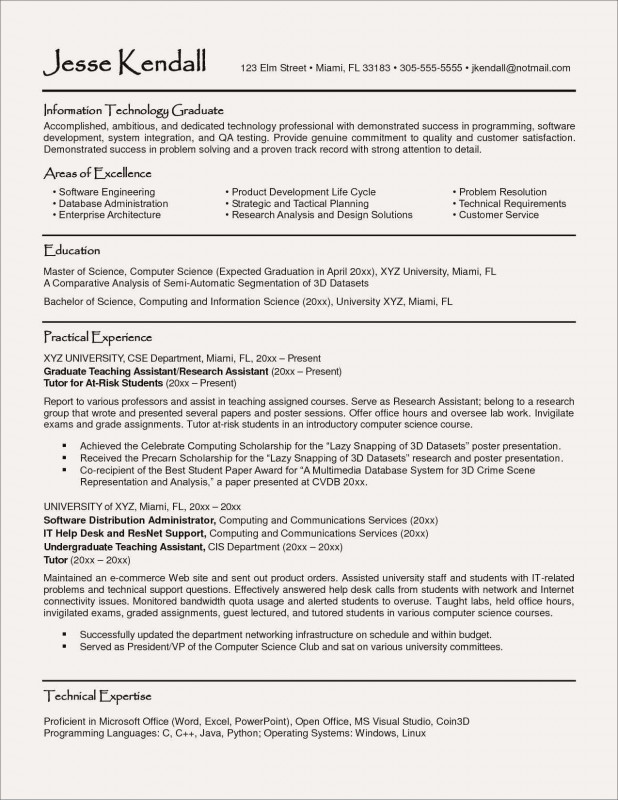 Technical Report Latex Template Awesome Sample Resume For Freshers Engineers Information Technology Valid