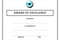 Template for Certificate Of Appreciation In Microsoft Word New Recognition Award Certificates My Spreadsheet Templates