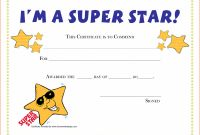 Template for Certificate Of Appreciation In Microsoft Word Unique Certificate Template for Kids Free Templates In Participation Award