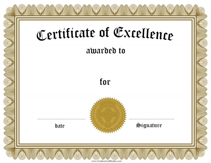 Template for Recognition Certificate New Award Certificate Word Template Leon Seattlebaby Co