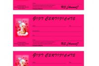 This Certificate Entitles the Bearer to Template New Valentine Gift Certificate Template Word Certificatetemplateword Com