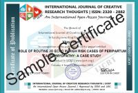 Track and Field Certificate Templates Free New Ijcrt issn 2320 2882 Ugc Approved Journal