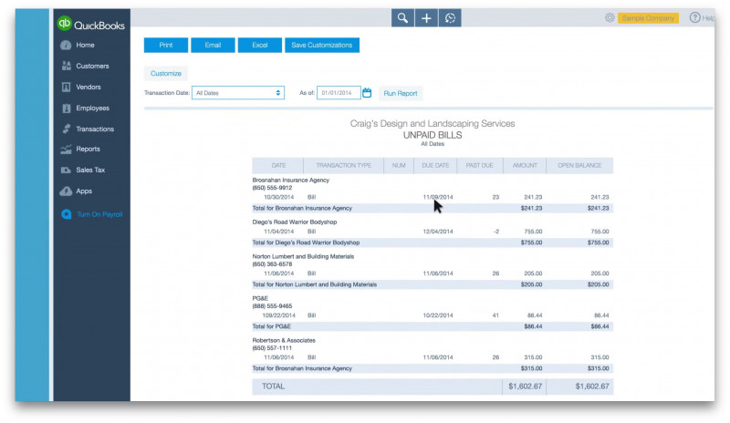 Truck Condition Report Template New Quickbooks Reports For Expenses And Payments