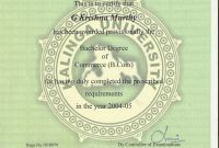 University Graduation Certificate Template New Please Verify My Degree Certificate From Kalinga University ask