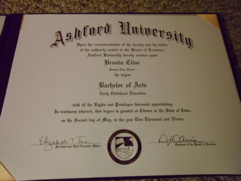 University Graduation Certificate Template Unique Bachelors Degree From Ashford University My Life Ashford