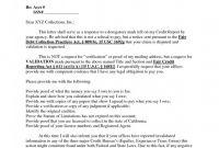 Validation Certificate Template New 34 Debt Dispute Letter Template Yahuibai