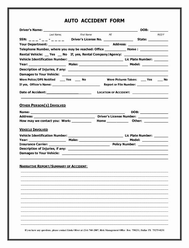 Vehicle Accident Report Form Template New 002 Accident Report Form Template Uk Of Motor Vehicle Choice Image