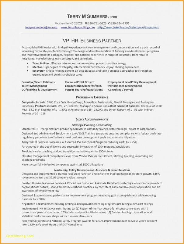 Vendor Due Diligence Report Template New 40 Human Resource Manager Resume Example Stockportcountytrust