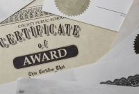 Volunteer Of the Year Certificate Template New Traditional Certificate Fonts