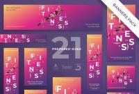 Website Banner Design Templates Unique Banners Pack Fitness Training Gym by Amber Graphics On