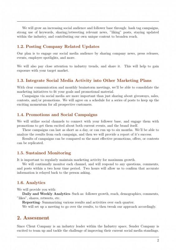 Weekly Social Media Report Template Unique 018 Political Campaign Proposallate Unique Plan Inspirational Social