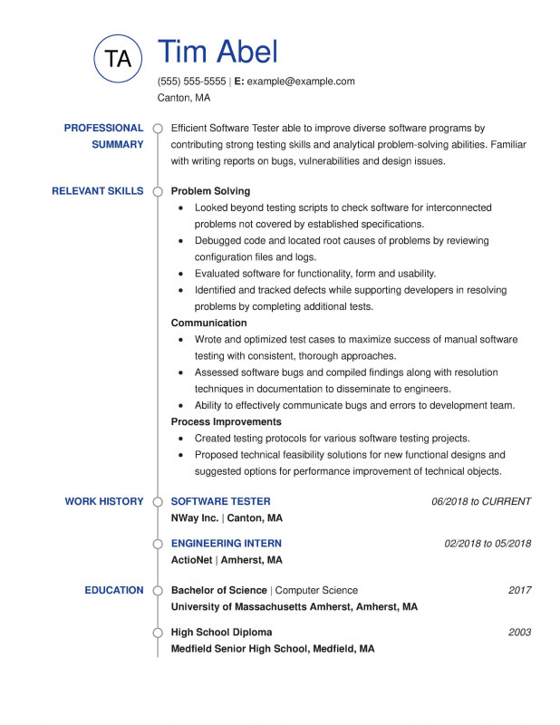 Weekly Test Report Template New 30 Resume Examples View by Industry Job Title