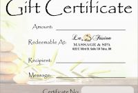 Yoga Gift Certificate Template Free New Beautiful Spa Gift Certificate Template Free Best Of Template