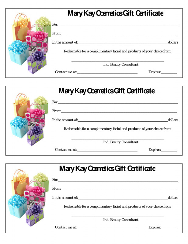 Yoga Gift Certificate Template Free New Mary Kay Gift Certificate Template Free Download