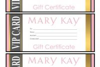 Yoga Gift Certificate Template Free New Mary Kay Gift Certificates Please Email for the Full Pdf Printable