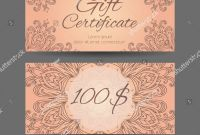 Yoga Gift Certificate Template Free Unique Template Gift Certificate Yoga Studio Spa Stock Vector Royalty Free