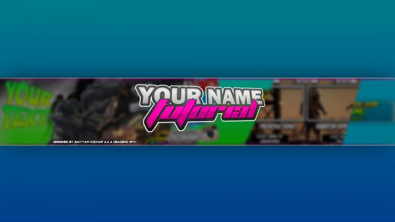 Youtube Banner Template Gimp Awesome Coole Banner Erstellen Elmorro Arts Org