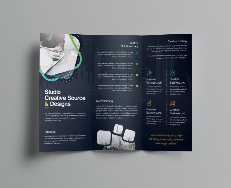 2 Fold Brochure Template Psd Awesome 019 Template Ideas Free Business Flyer Templates Download New