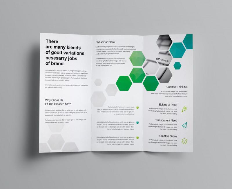 2 Fold Brochure Template Psd Awesome Hexagon Corporate Tri Fold Brochure Template Graphic Templates