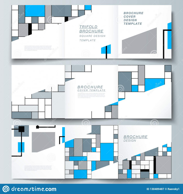 4 Fold Brochure Template Best The Minimal Vector Editable Layout Of Square Format Covers Design