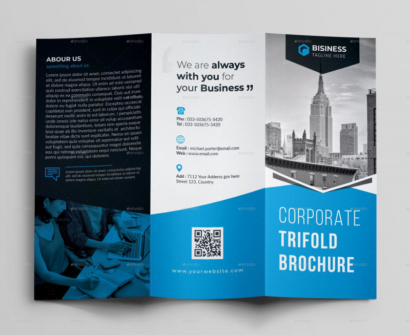 6 Sided Brochure Template Awesome 76 Premium Free Business Brochure Templates Psd To Download