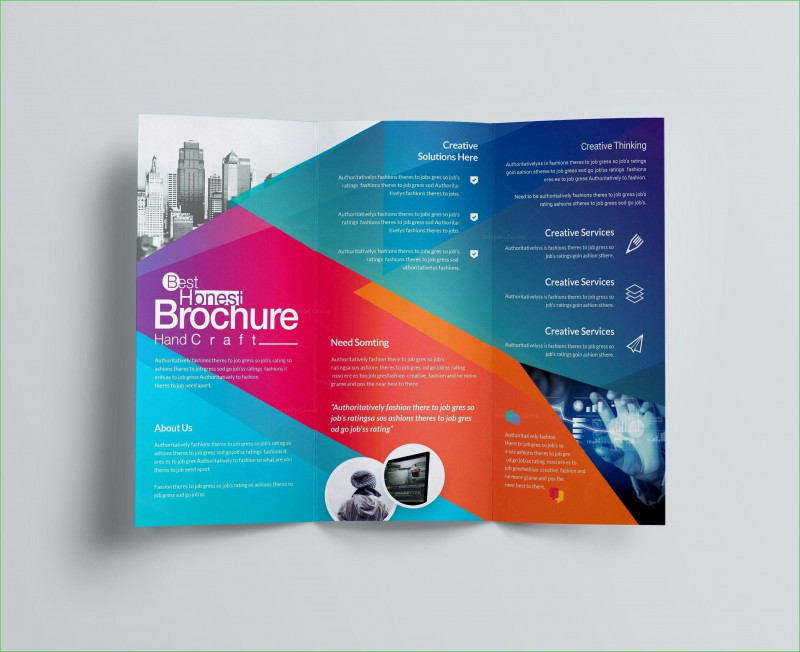 Adobe Illustrator Tri Fold Brochure Template Awesome 021 Modern Tri Fold Brochure Design Ispiratore Adobe Template Free