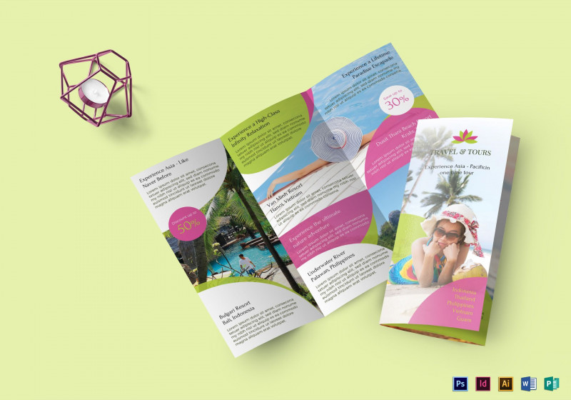 Adobe Illustrator Tri Fold Brochure Template Awesome Travel And Tour Brochure Design Template In Psd Word Publisher