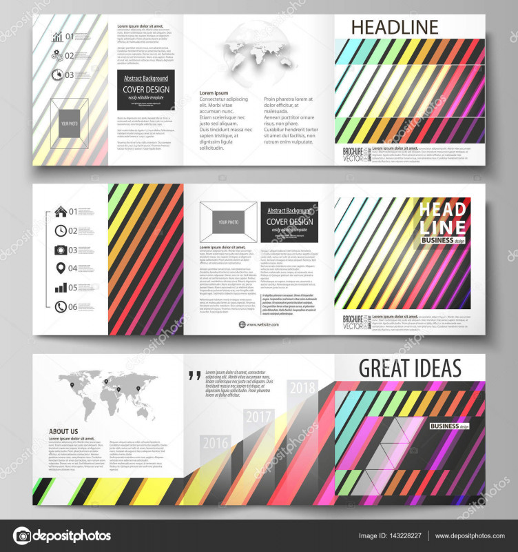 Adobe Illustrator Tri Fold Brochure Template Best Business Templates for Tri Fold Square Brochures Leaflet Cover