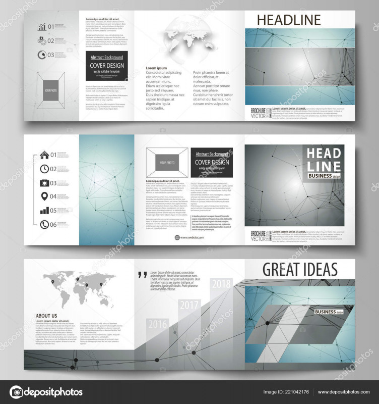 Architecture Brochure Templates Free Download New Set Of Business Templates For Tri Fold Square Design Brochures