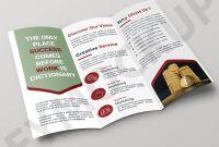 Brochure 3 Fold Template Psd Awesome Gold Mine Tri Fold Business Template Eymockup