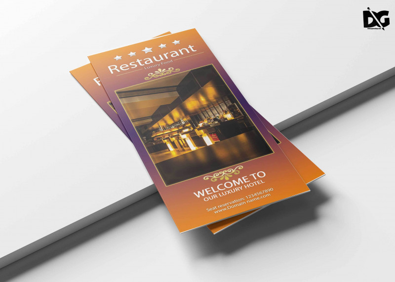 Brochure 3 Fold Template Psd Best Hotel Menu Template Psd Pizza Flyer Template Free Psd