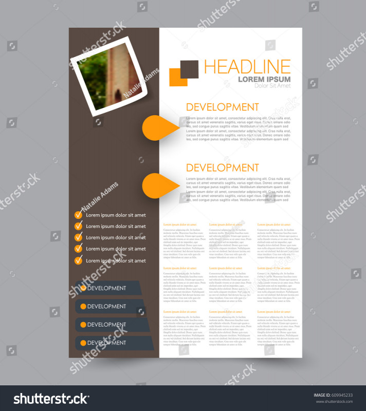 Brochure Design Templates For Education New Flyer Design Template Annual Report Cover Stock Vector Royalty Free