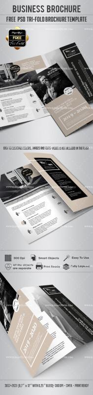 Brochure Psd Template 3 Fold New Business Free Tri Fold Brochure Psd Template By Elegantflyer