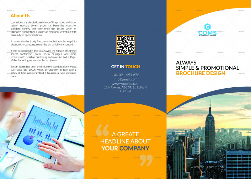 Brochure Template Illustrator Free Download Awesome 76 Premium Free Business Brochure Templates Psd To Download