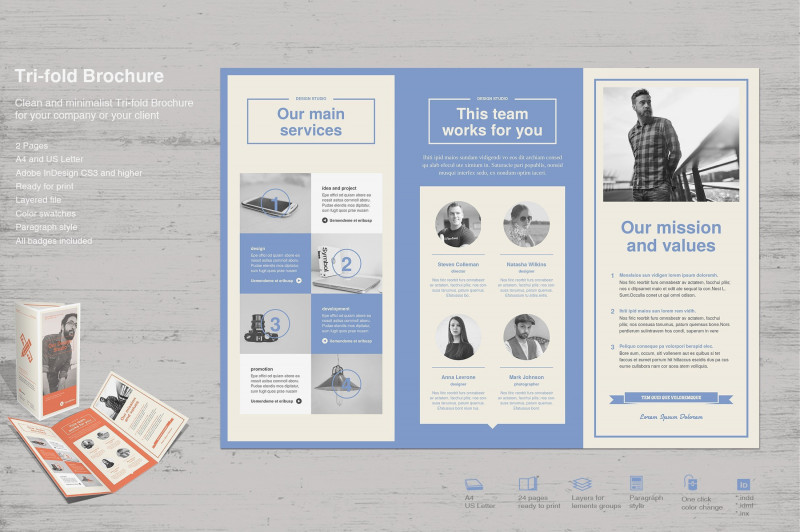 Brochure Templates Adobe Illustrator New Tri Fold Brochure Template Design Stock Vector Illustration Of With