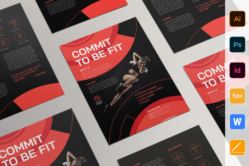 Brochure Templates For Word 2007 New Personal Trainer Flyer Flyer Templates Creative Market