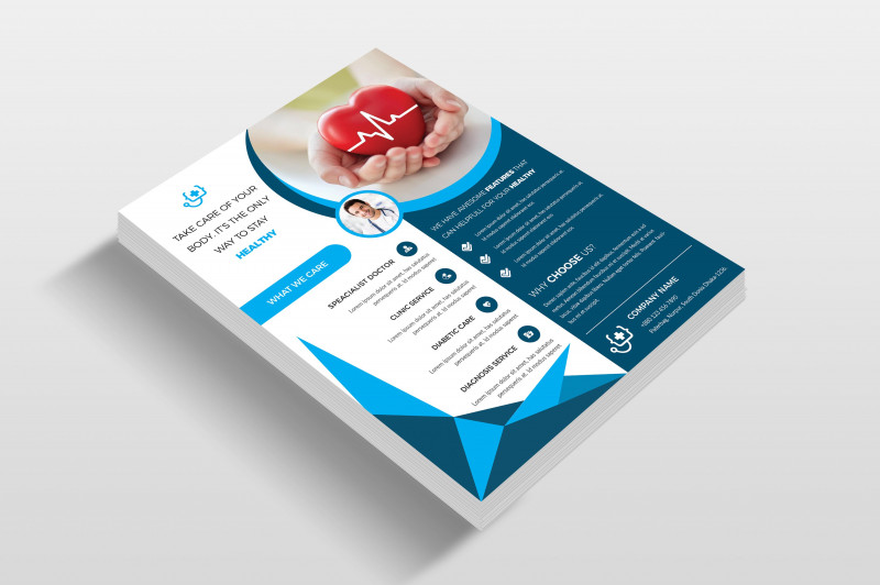 Commercial Cleaning Brochure Templates Best Doctor Hospital Flyer Template Flyer Templates Creative Market