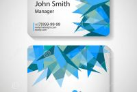 Fedex Brochure Template Awesome 017 Template Ideas Office Business Card Vector Illustration Blue