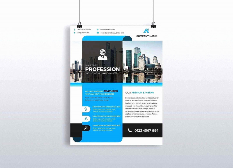 Free Illustrator Brochure Templates Download New 012 Business Flyer Templates Free Download for Word Beautiful