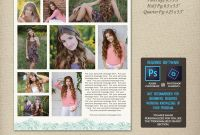 Half Page Brochure Template New Senior Yearbook Ad Photoshop Templates Graduation Ad High Etsy