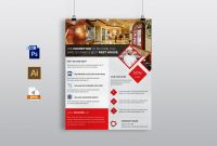 Hotel Brochure Design Templates Awesome Hotel Restaurant Flyer Template Flyer Templates Creative Market