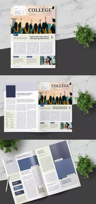 Indesign Templates Free Download Brochure Best University Newsletter Template Indesign Indd A4 Format With Bleed