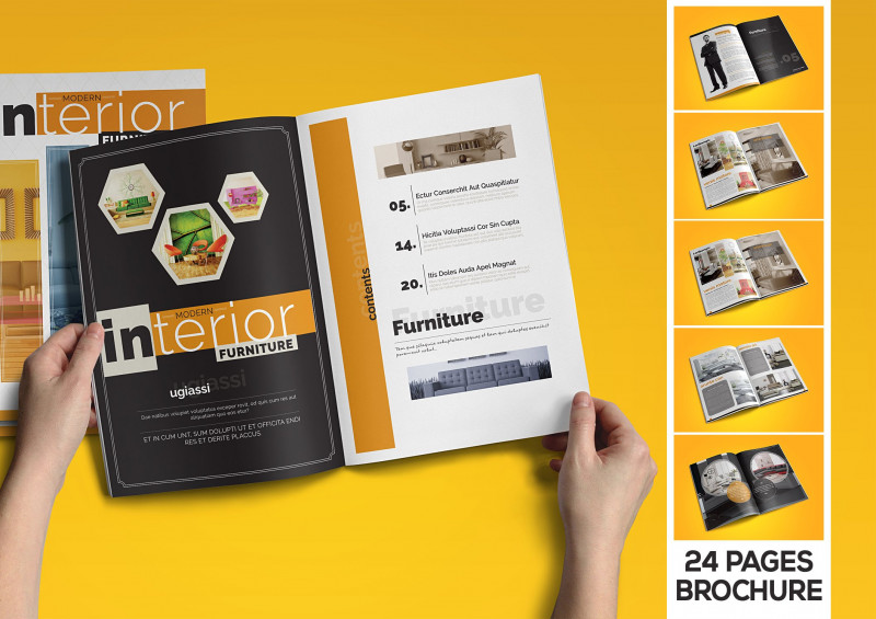 Letter Size Brochure Template Awesome Interior Catalogue Brochure Templates Creative Market