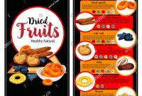 Nutrition Brochure Template Best Dried Fruit Superfood Nutrition Facts Banner Stock Vector Royalty