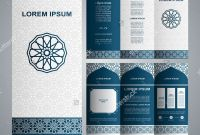 Online Free Brochure Design Templates Best Vintage islamic Style Brochure and Flyer Design Template with Logo