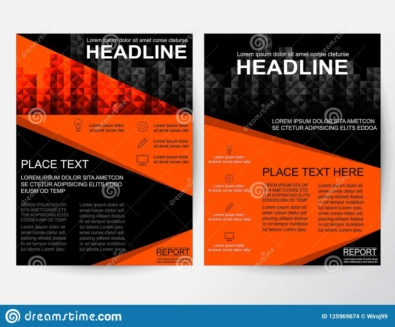Online Free Brochure Design Templates New Creative Flyer Abstract Design Layout For Business In A4 Stock