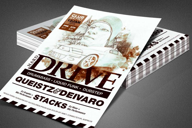Pop Up Brochure Template New Hard Drive Event Flyer Template Flyer Templates Creative Market