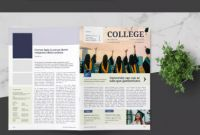 School Brochure Design Templates Best University Newsletter Template Indesign Indd A4 format with Bleed