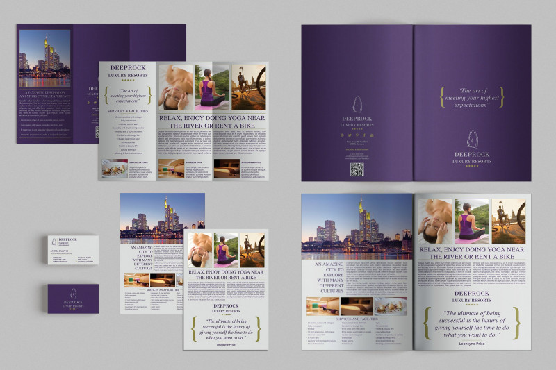 Science Brochure Template Google Docs Awesome Set Of Brochures Stationery 01 Brochure Templates Creative Market